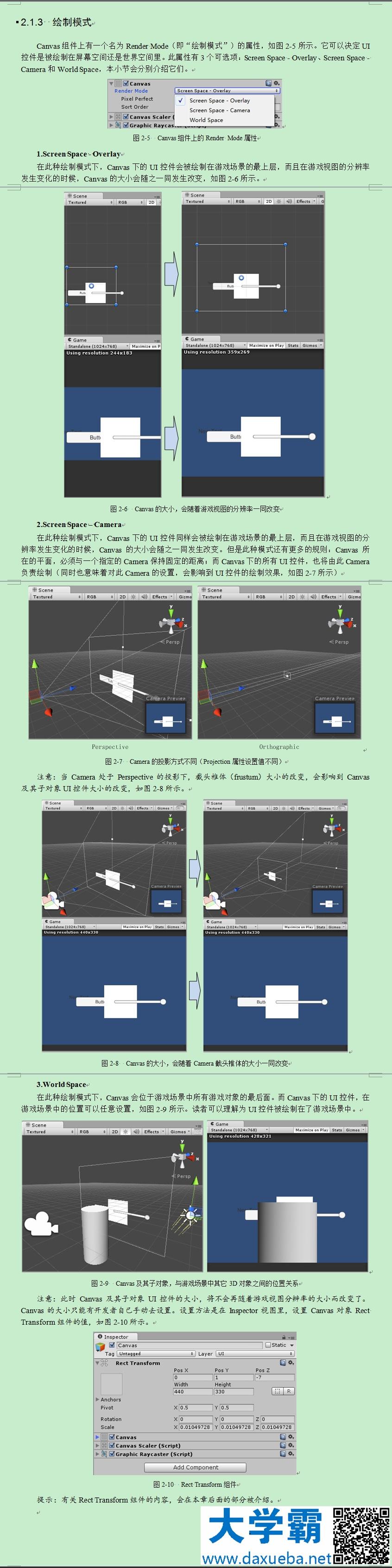 Unity UGUI——Canvas绘制模式比较_Unity3d_积木网(gimoo net)